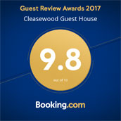 booking.com Guest review awards 2017 9.8 out of 10